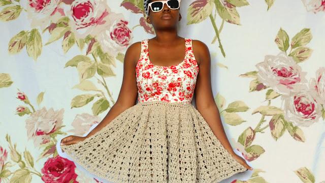 DIY // Crochet Fusion // Crop Top Dress Free Pattern!