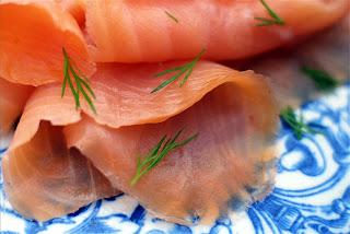 Peat-smoked salmon
