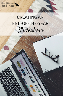 Creating an end-of-the-year slideshow: Tips for using iMovie to create a slideshow for your class and/or school!