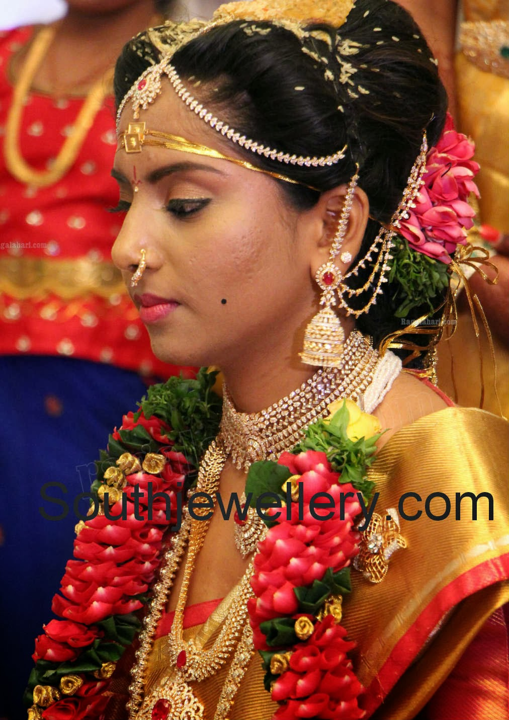 harini in diamond bridal jewellery