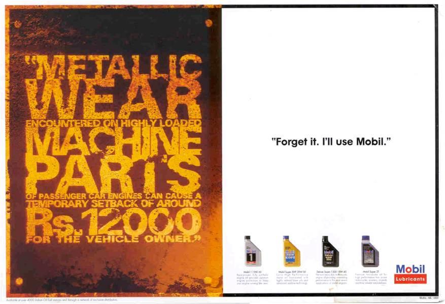 my work delhi-bombay-bangalore: mobil oil reminder ads