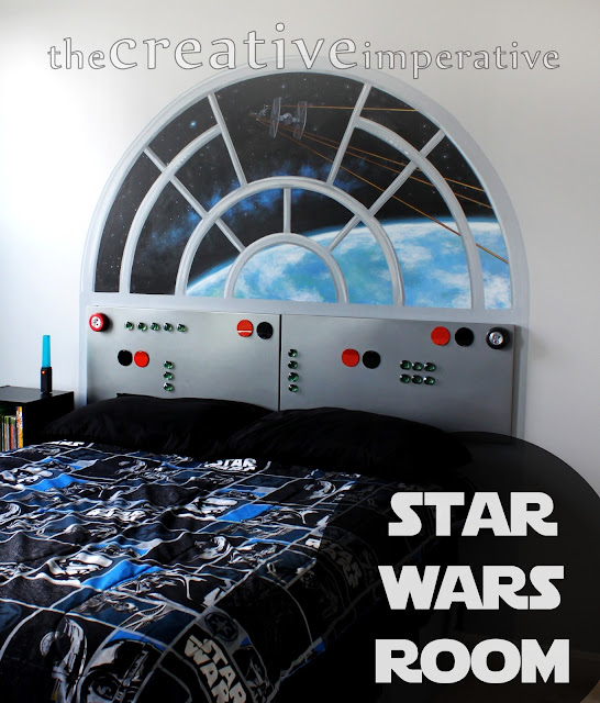 Star Wars Bedroom: Sew Can Do: It's The Craftastic Monday Link Party + August