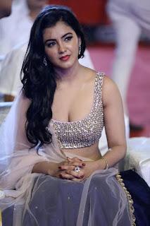 Indian Girl Malavika Sharma In Blue Lehenga Choli (6)
