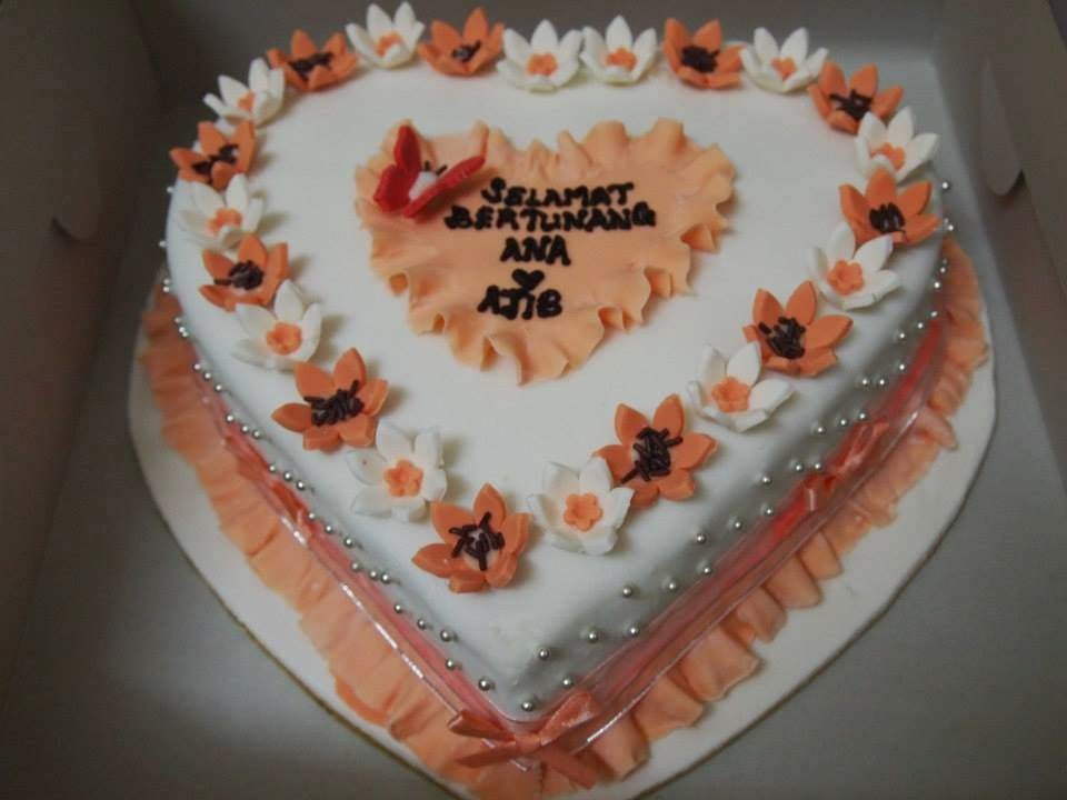 Orange Love fondant