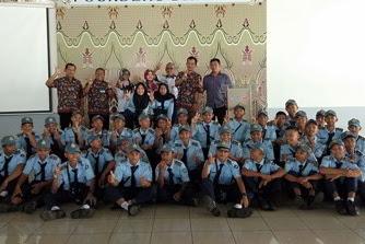 Kunjungan industri SMK N 8 Purworejo di PT.TVS motor company Indonesia Karawang