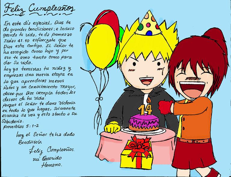 tarjeta feliz cumpleaños hermano