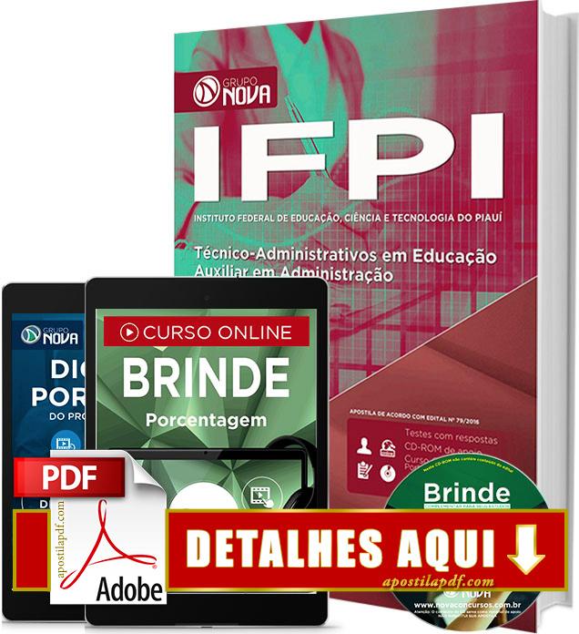 Apostila IFPI 2016 Auxiliar em Administração Impressa
