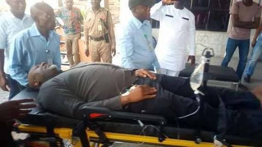 Dino Melaye Saga: Armed Policemen Guard Abuja Hospital
