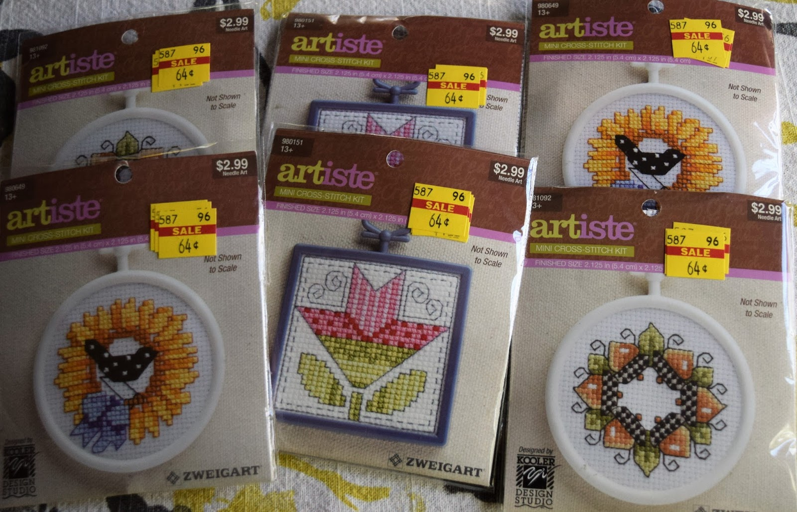 just look how cute these teddy bear cross stitch kits are now 151 marked down from 699 - Hobby Lobby Christmas Clearance