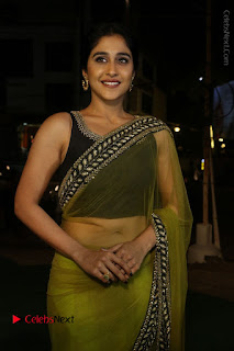 Actress Regina Stills in Green Saree at Vivaha Bhojanambu Restaurant Launch  0074.JPG