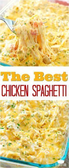 The Best Chicken Spaghetti Recipe With Creamy Cheesy