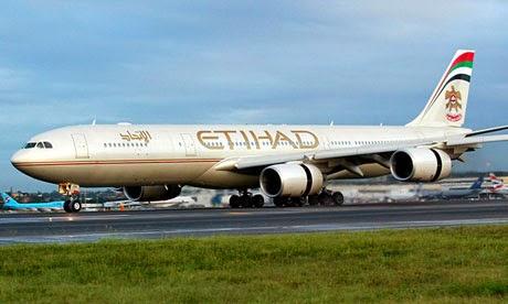 Etihad Airways ticket dhaka