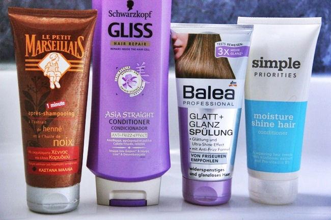 Le petite Marseiliais Balea Sephora Schwarzkopf gliss hair conditioners