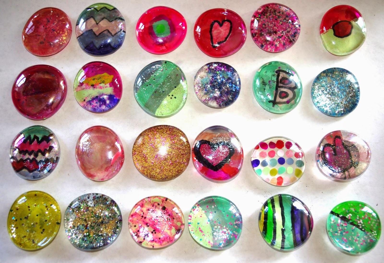 Glass Gems  Nail Polish  KidFriendly Refrigerator
