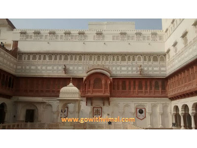 Vikram Mahal canopy, Junagarh Palace