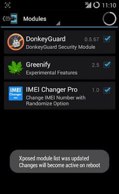 Cara Mengubah Nomor IMEI Android Xposed Installer