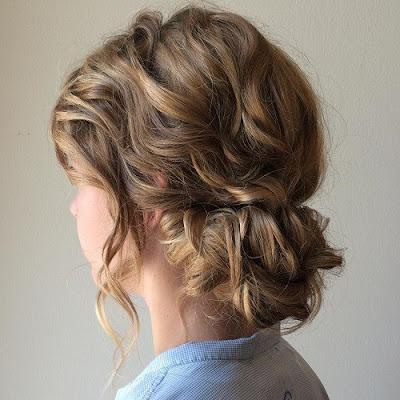 peinados recogidos con cabello corto