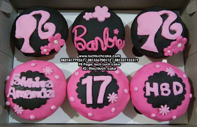 Cupcake Birthday Barbie Pink Logo