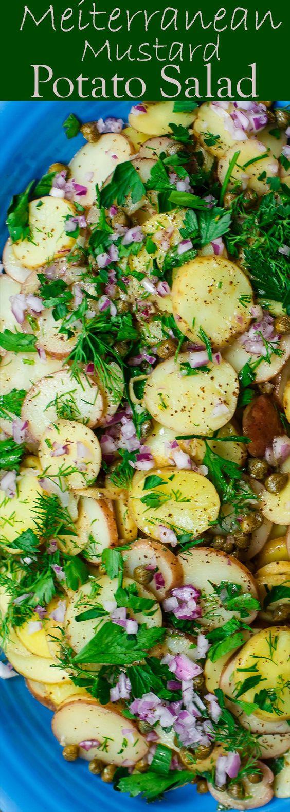 Easy Mediterranean Mustard Potato Salad
