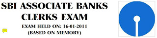 SBI ASSOCIATE BANKS CLERKS EXAM PREVIOUS SOLVED PAPER 2011