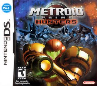 Portada del cartucho de Nintendo DS de Metroid Prime Hunters, 2006, Nintendo