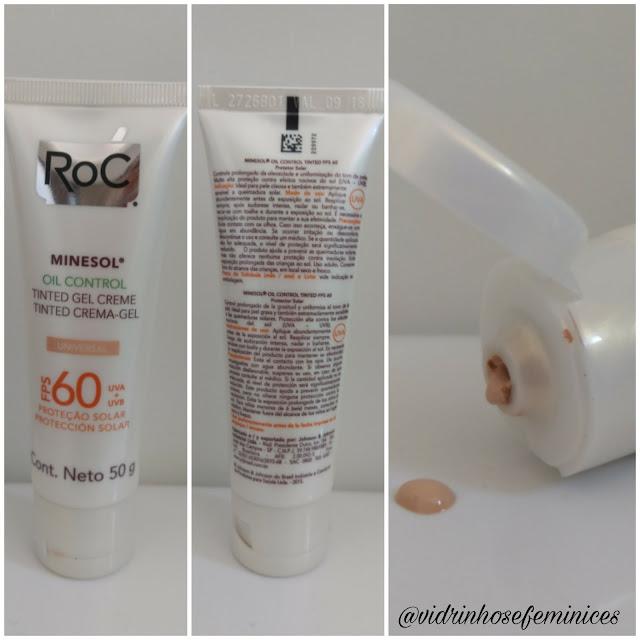Protetor Solar Roc Minesol Oil Control Tinted Gel Creme FPS 60 - Universal