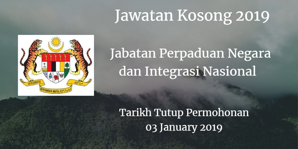 Jawatan Kosong JPNIN 03 January 2019