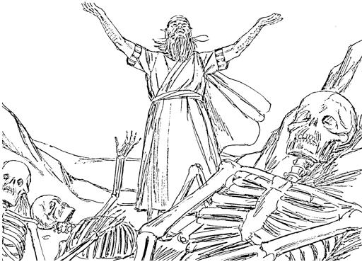 dry bones coloring pages - bible fun for kids 3 8 ezekiel the valley of bones