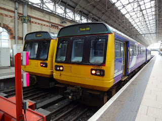 Pacer Railbuses 142030 & 142054 at Manchester Piccadilly