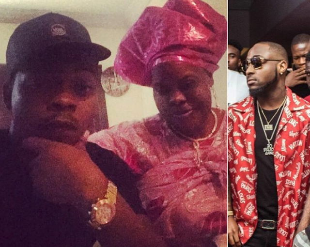 Davido sent a message of condolence to Olamide Badoo following the lost of his dear mother