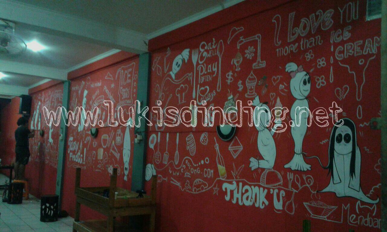 Lukisan Dinding Tembok Cafe Motif Baru Gaya Baru 2016 Jasa