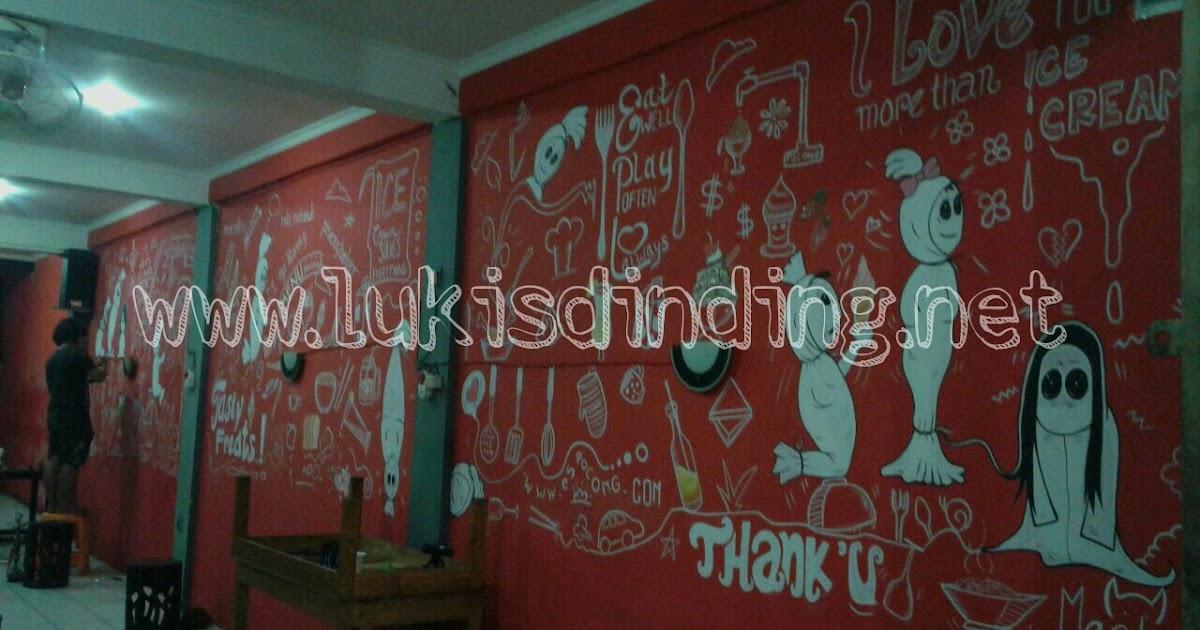 Lukisan dinding tembok cafe motif baru gaya baru 2016 for Mural untuk cafe