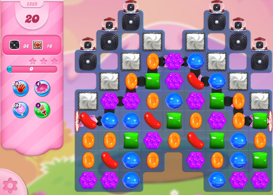 Candy Crush Saga level 2869