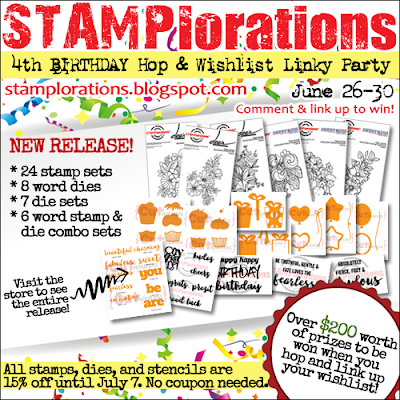 STAMPlorations Birthday Hop! + PRIZES!