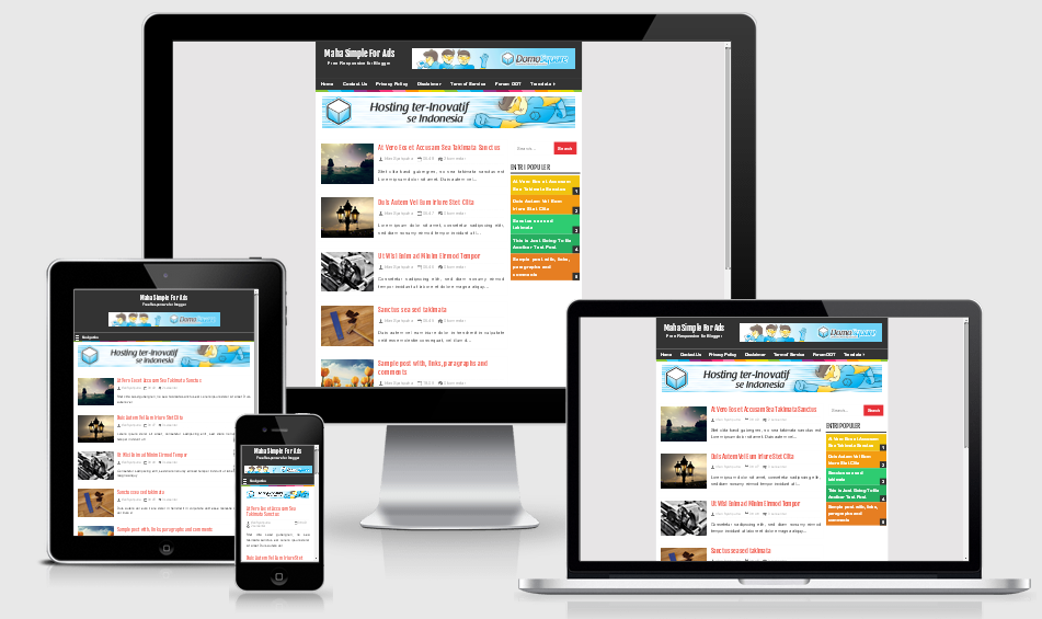what is a responsive template - maha simple responsive blogger template akutemplates
