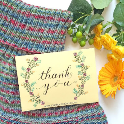 knitting cape, craft, lettering, thank you card, handmade card, alternatif hadiah, hadiah buatan sendiri, handmade gift, www.indahprimadona.com