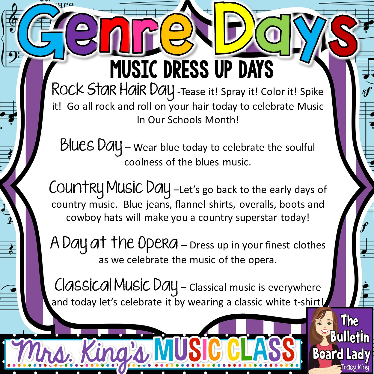 Mrs. King's Music Class: Spirit Days for Music In Our Schools Month