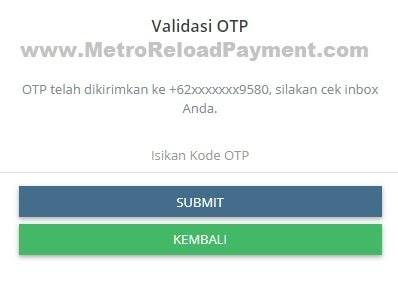 Isikan Kode OTP