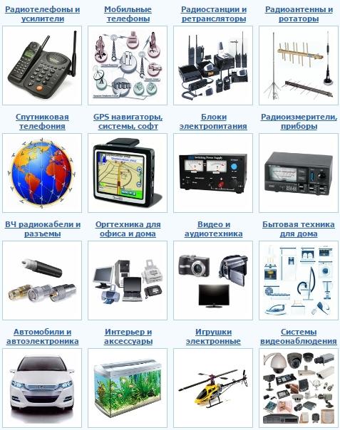 Универсальный интернет-магазин современной радиосвязи, радиоэлектроники и техники.