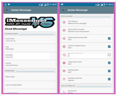 BBM Mod Transparan Full DP Terbaru