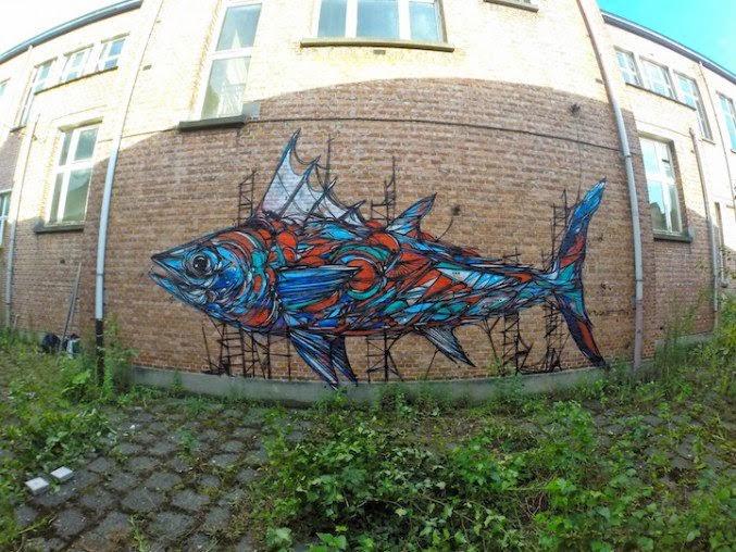 Arte urbano pez