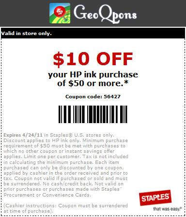 photograph regarding Staples Coupons Printable identify Discount coupons for hp printer ink at staples - Quickly be coupon
