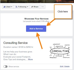 Add Services To Facebook Business Page