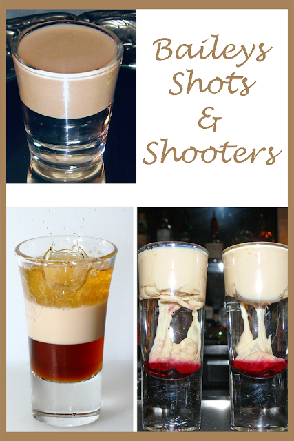 Delicious selection of Baileys shots and shooters via Dream Cocktails