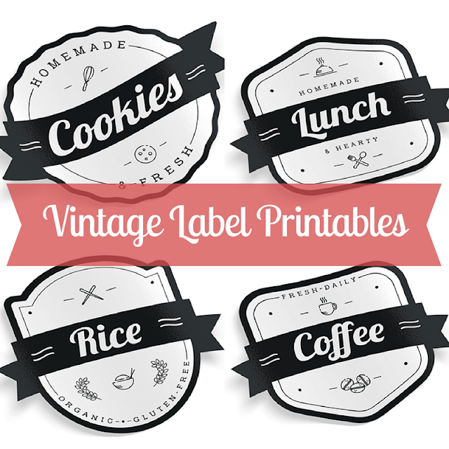 12 Free Vintage Label Printables