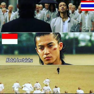 10 Meme Greget 'Abduh Lestaluhu' Pasca Aksi Tendangan Bola ke Bench Thailand