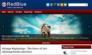 RedBlue+Blogger+Template