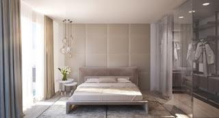 Dormitorio espaldar decorado