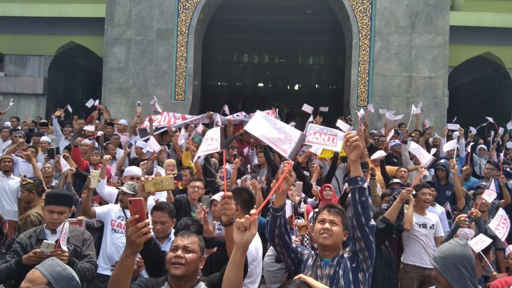 Meski Neno Dipaksa Pulang, Begini Penampakan Deklarasi #2019GantiPresiden Pekanbaru