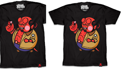 "Hellboy ""Broiler Big Kid"" T-Shirt by Johnny Cupcakes"
